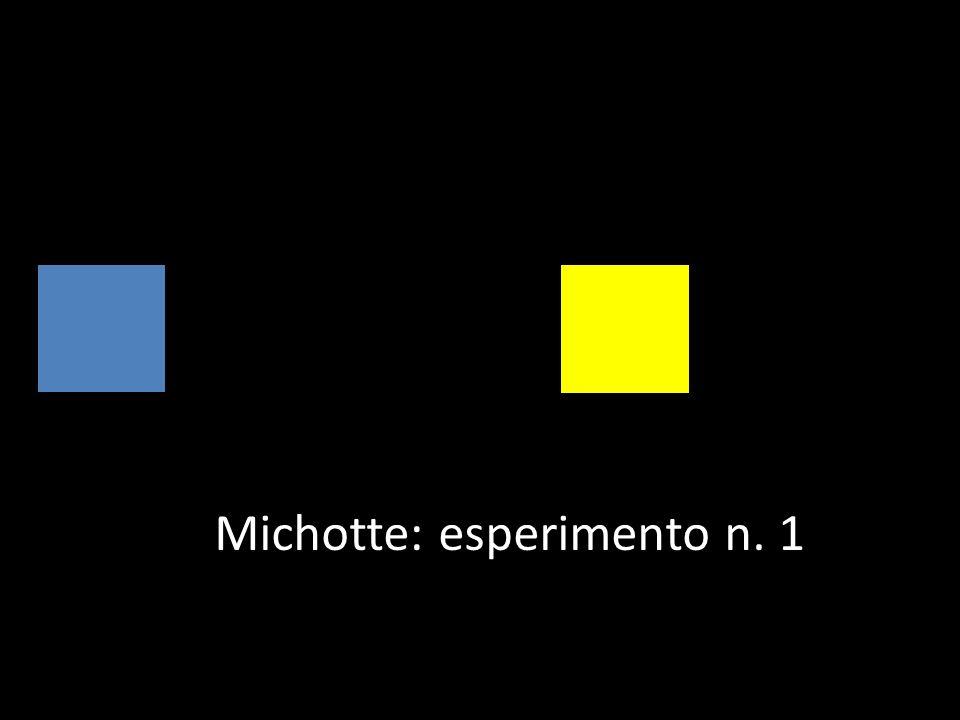 Michotte: esperimento n. 1
