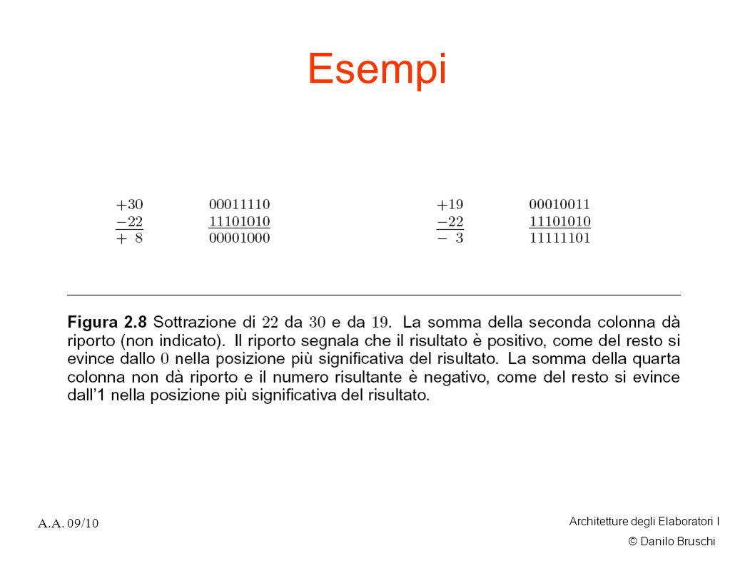 © Danilo Bruschi A.A. 09/10 Architetture degli Elaboratori I Esempi