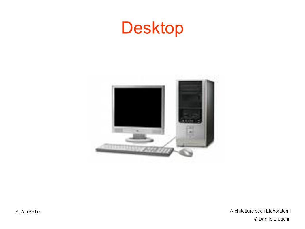 © Danilo Bruschi A.A. 09/10 Architetture degli Elaboratori I Desktop
