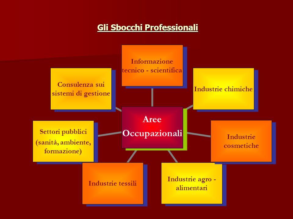 Gli Sbocchi Professionali Gli Sbocchi Professionali Aree Occupazionali Informazione tecnico - scientifica Industrie chimiche Industrie cosmetiche Indu