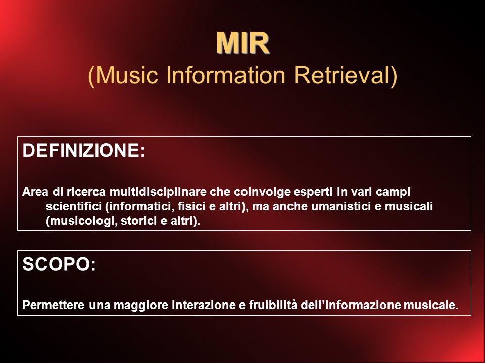 Comprensione Tutti i problemi e le informazioni contenute in un segnale musicale sono ben definite.