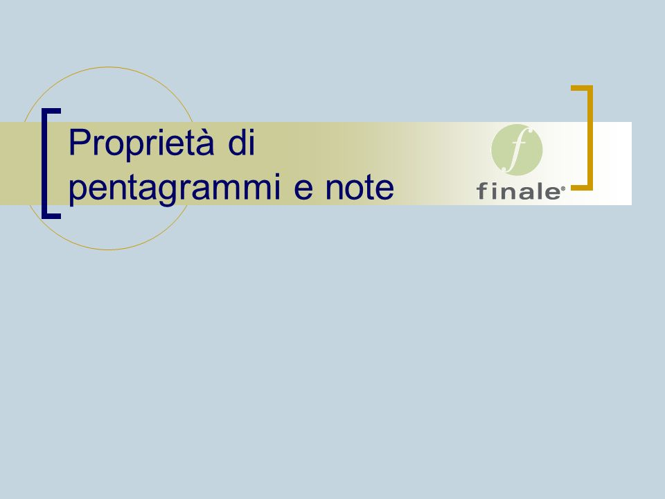 Proprietà di pentagrammi e note