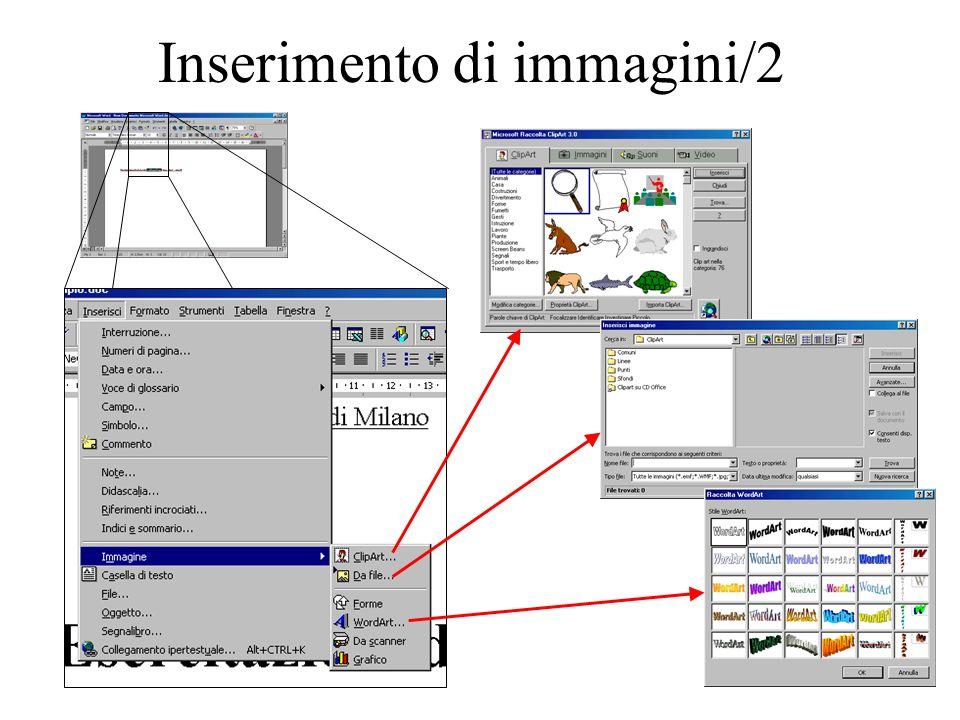Inserimento di immagini/3 Selezionando Formato Immagine...