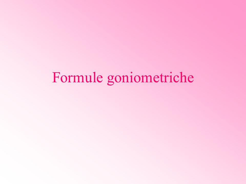 Angoli associati Due angoli orientati si dicono: complementari quando….