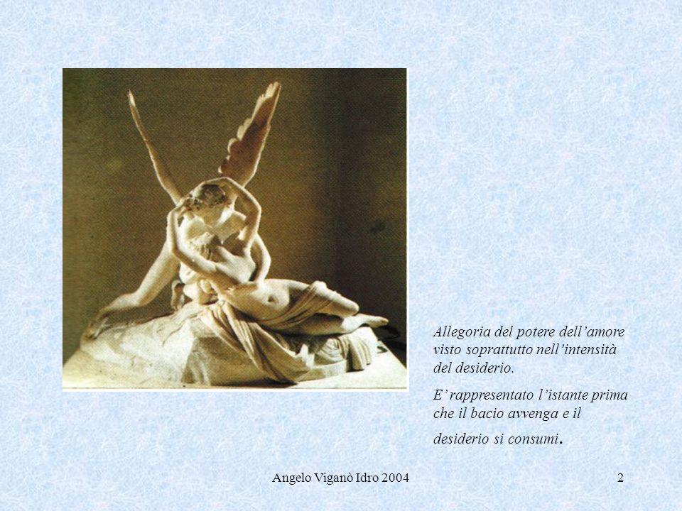 Angelo Viganò Idro 20042 Allegoria del potere dellamore visto soprattutto nellintensità del desiderio. E rappresentato listante prima che il bacio avv