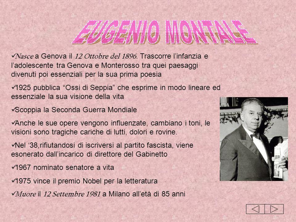 Nasce a Genova il 12 Ottobre del 1896. Trascorre linfanzia e ladolescente tra Genova e Monterosso tra quei paesaggi divenuti poi essenziali per la sua