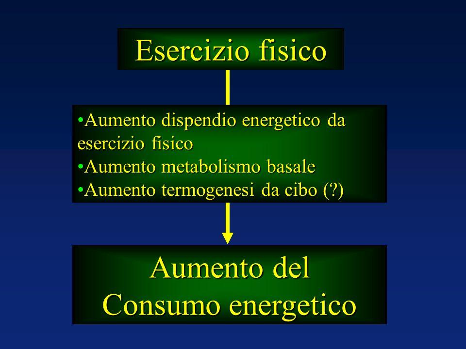 Aumento dispendio energetico da esercizio fisicoAumento dispendio energetico da esercizio fisico Aumento metabolismo basaleAumento metabolismo basale
