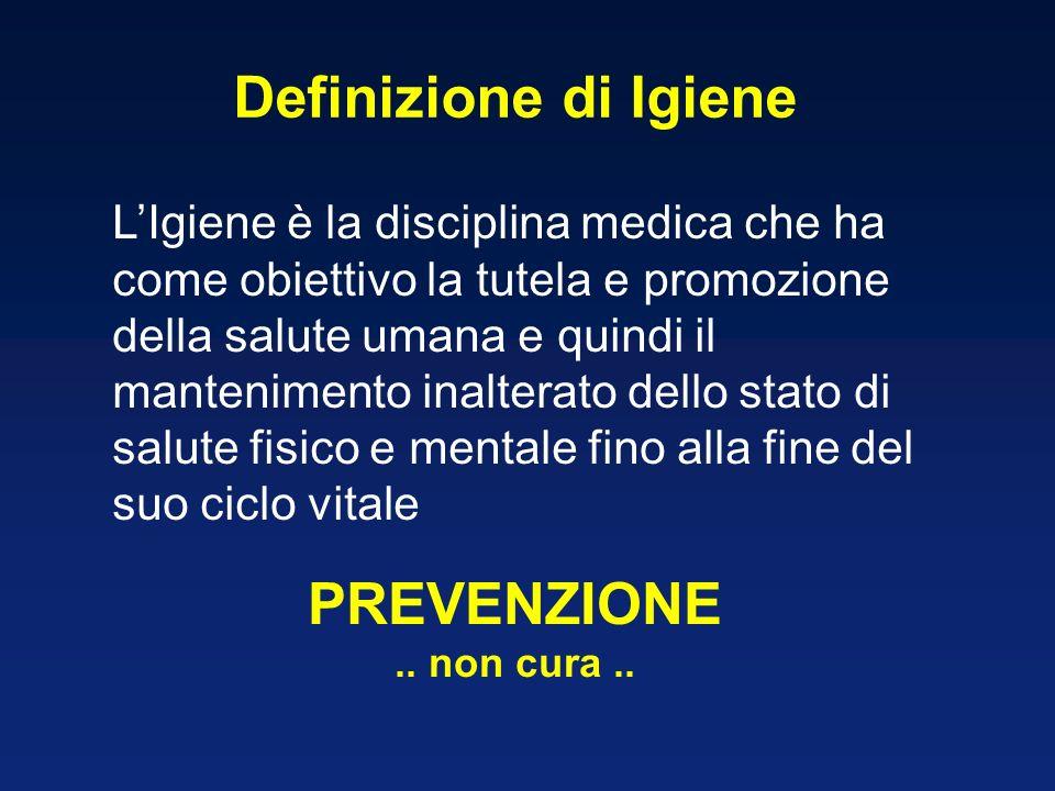 LIgiene è la disciplina medica che ha come obiettivo la tutela e promozione della salute umana e quindi il mantenimento inalterato dello stato di salu