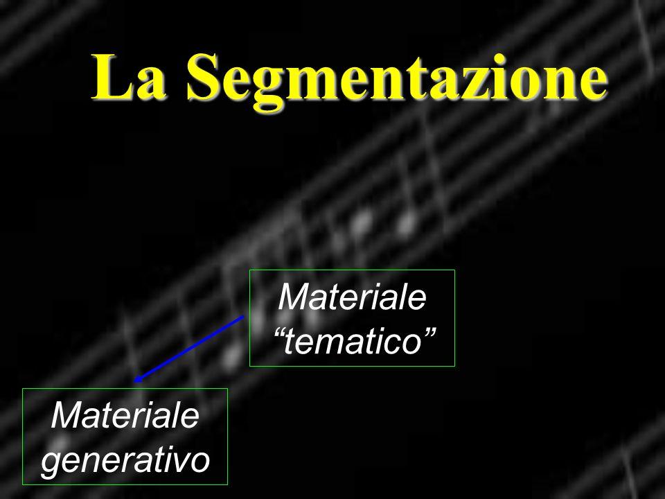 La Segmentazione Materiale generativo Materiale tematico