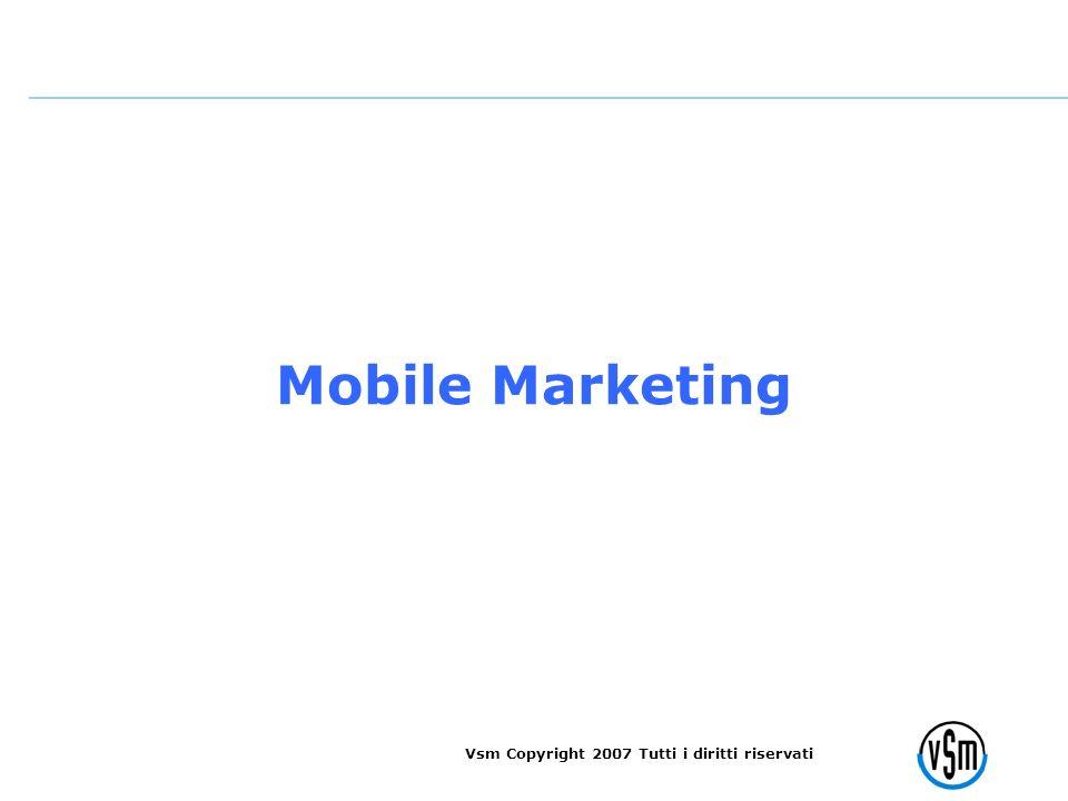Vsm Copyright 2007 Tutti i diritti riservati Mobile Marketing