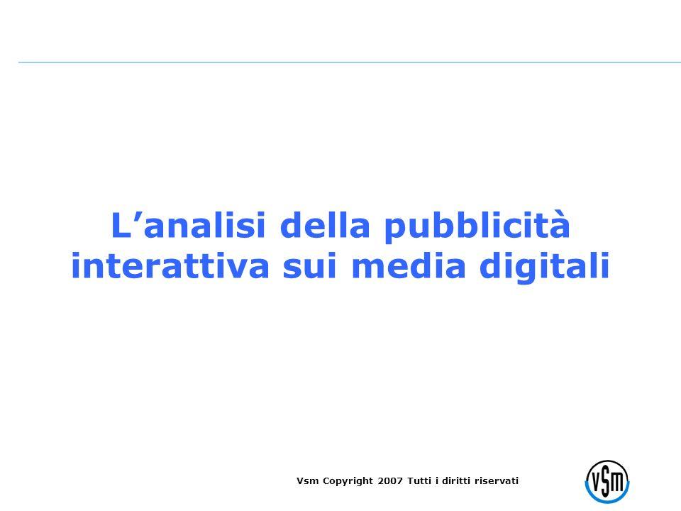 Lanalisi della pubblicità interattiva sui media digitali