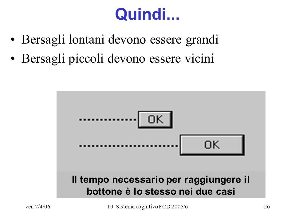 ven 7/4/0610 Sistema cognitivo FCD 2005/626 Quindi...