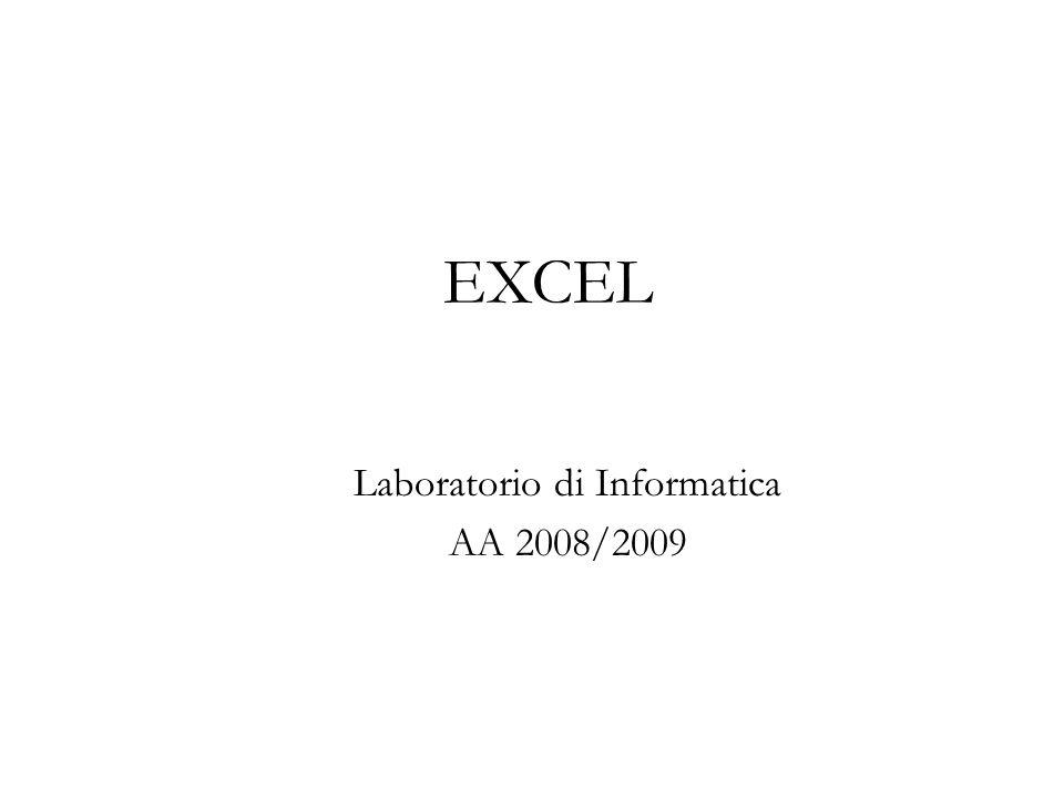 EXCEL Laboratorio di Informatica AA 2008/2009