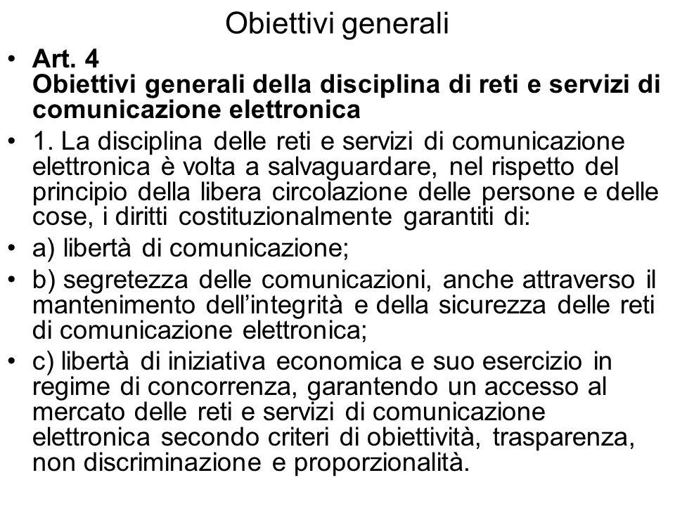 Obiettivi generali Art.