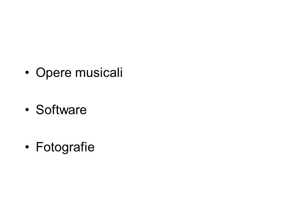 Opere musicali Software Fotografie