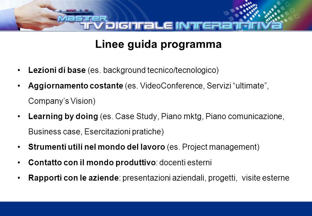 Linee guida programma Lezioni di base (es.