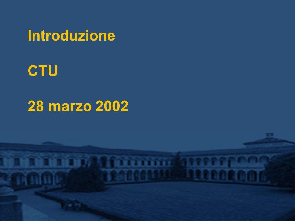 Introduzione CTU 28 marzo 2002