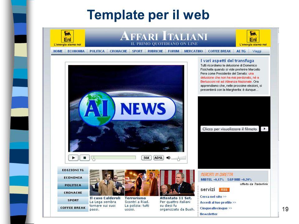 19 Template per il web