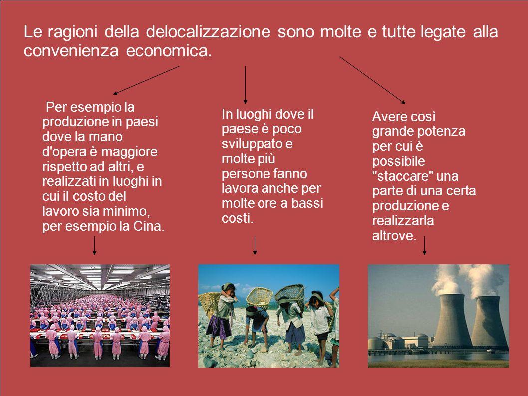Lo sfruttamento Le fabbriche italiane, verso la fine degli anni 80, cominciarono a richiedere manodopera flessibile a basso costo, e lo sfruttamento di donne e bambini aumentò, superando quello realizzato durante la rivoluzione industriale inglese.