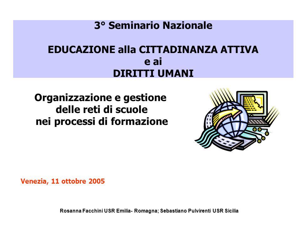 Rosanna Facchini USR Emilia Romagna Sebastiano Pulvirenti USR Sicilia Accordo per il lavoroAccordo per il lavoro settembre 1996 art.