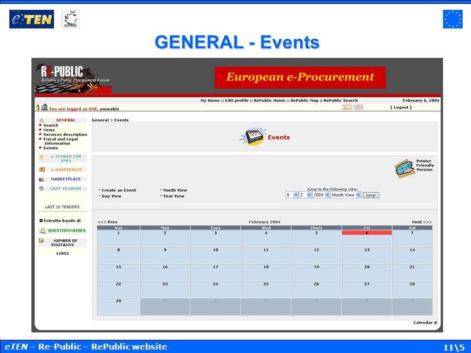 11\5 GENERAL - Events eTEN – Re-Public – RePublic website