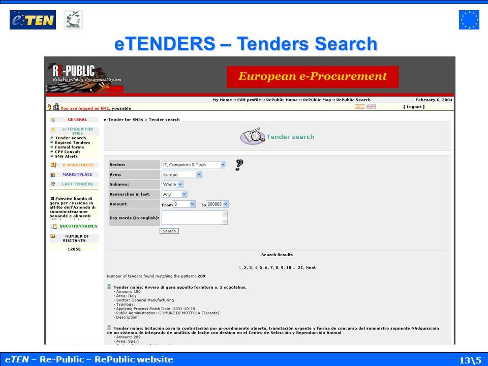 13\5 eTENDERS – Tenders Search eTEN – Re-Public – RePublic website