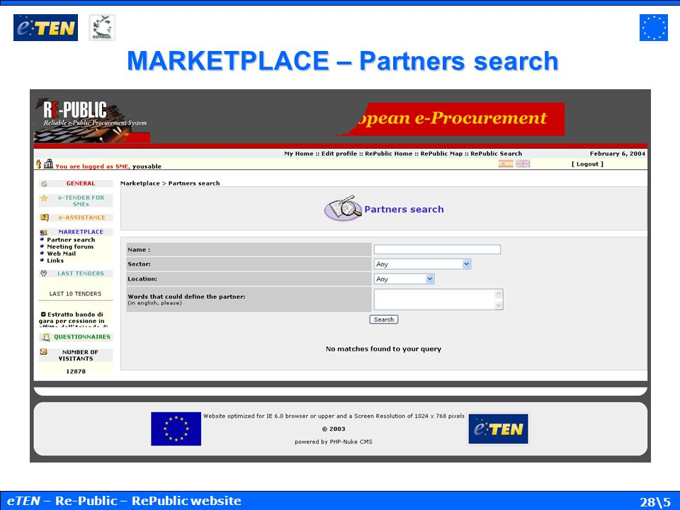 28\5 MARKETPLACE – Partners search eTEN – Re-Public – RePublic website