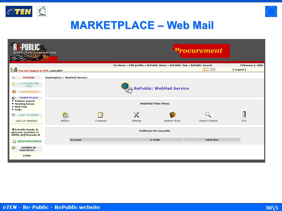 30\5 MARKETPLACE – Web Mail eTEN – Re-Public – RePublic website