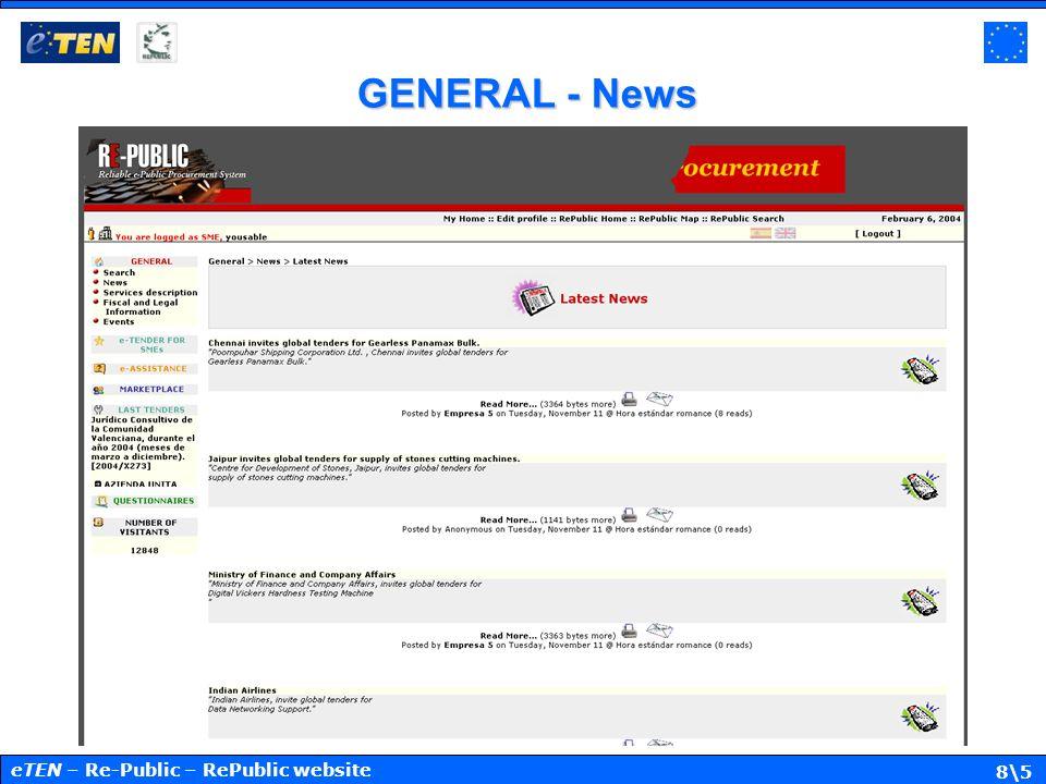 8\5 GENERAL - News eTEN – Re-Public – RePublic website
