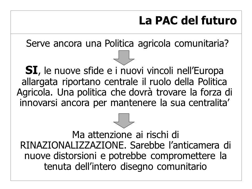 La PAC del futuro Serve ancora una Politica agricola comunitaria.
