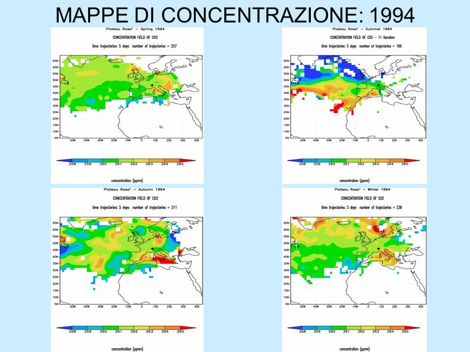 MAPPE DI CONCENTRAZIONE: 1994