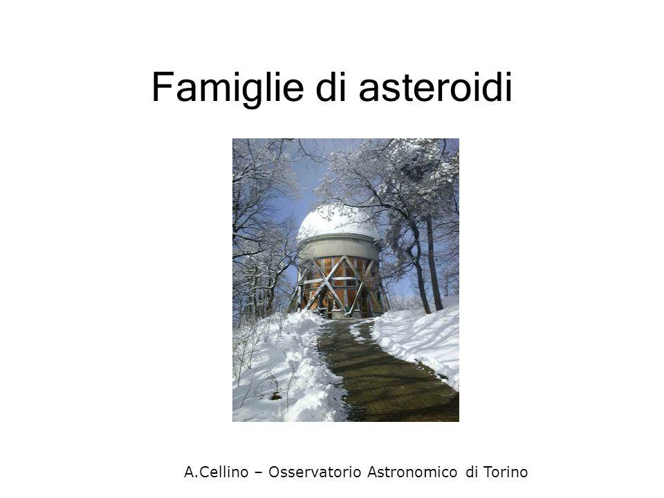 Famiglie di asteroidi A.Cellino – Osservatorio Astronomico di Torino