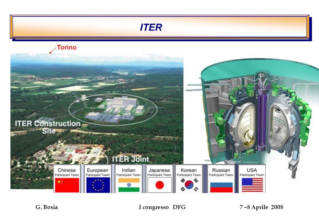 G. Bosia I congresso DFG 7 –8 Aprile 2008 Reazioni di fusione