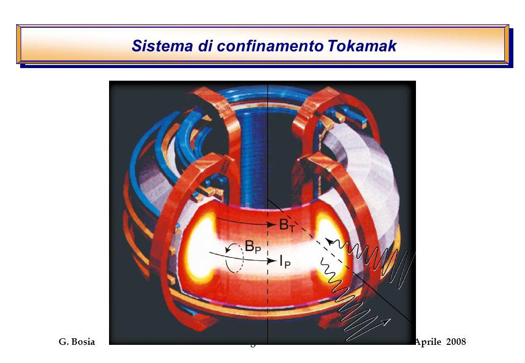 G. Bosia I congresso DFG 7 –8 Aprile 2008 Sistema di confinamento Tokamak
