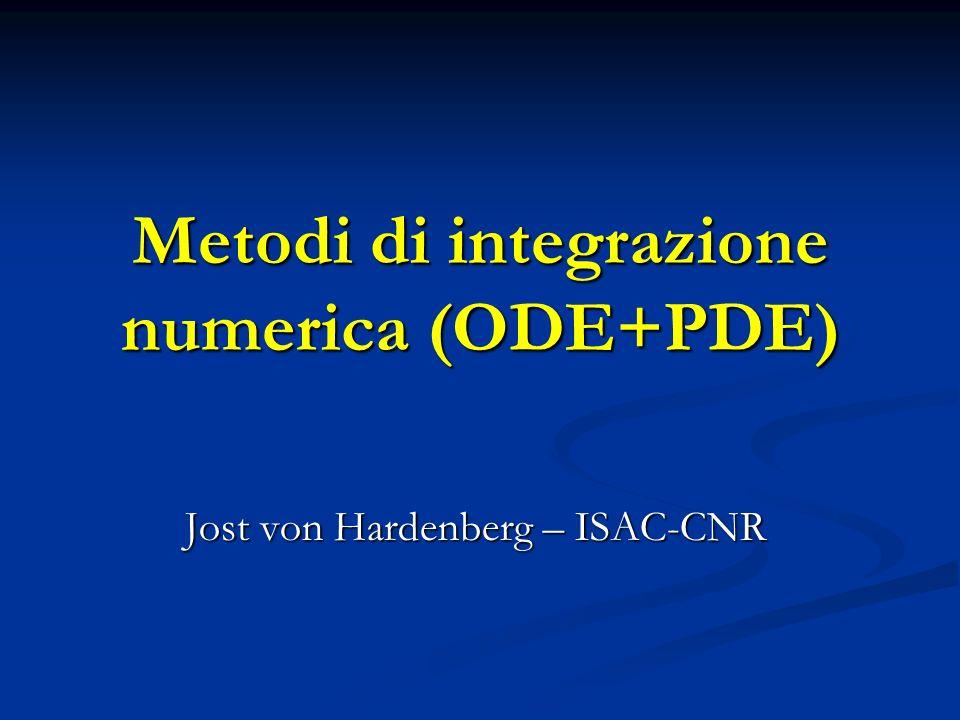 PDE: Condizioni al contorno Condizioni di Dirichlet eg.