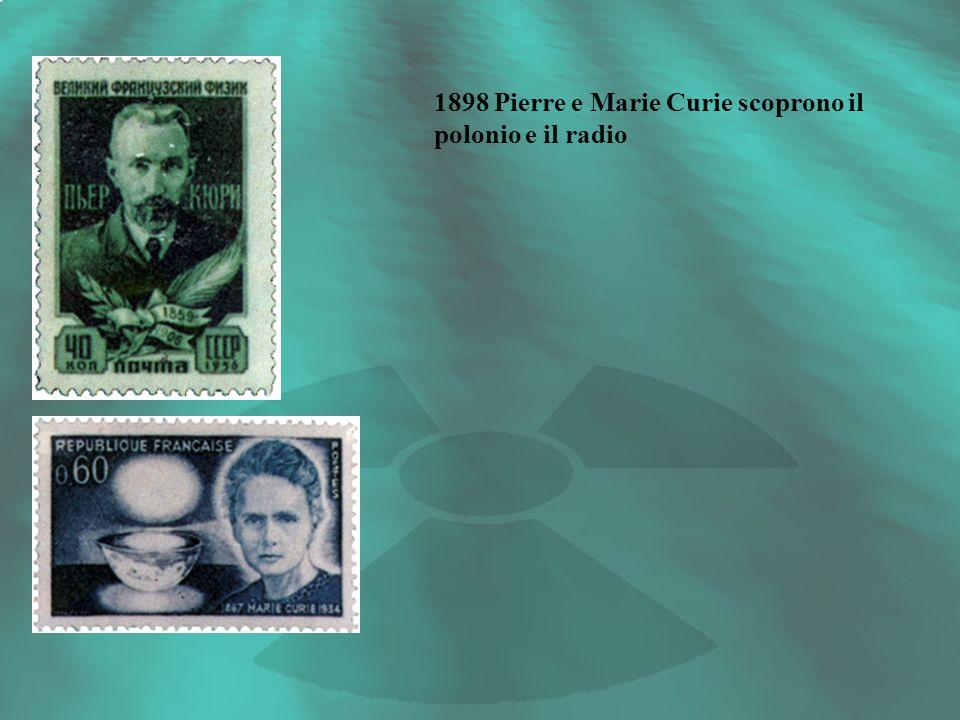 1898 Pierre e Marie Curie scoprono il polonio e il radio