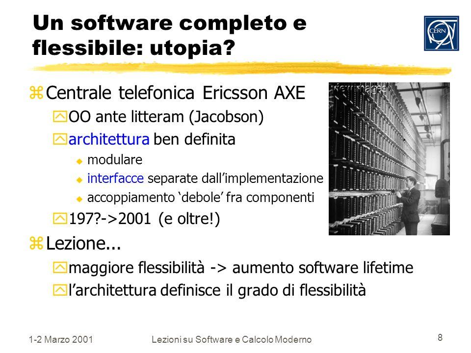 1-2 Marzo 2001Lezioni su Software e Calcolo Moderno 8 Un software completo e flessibile: utopia.