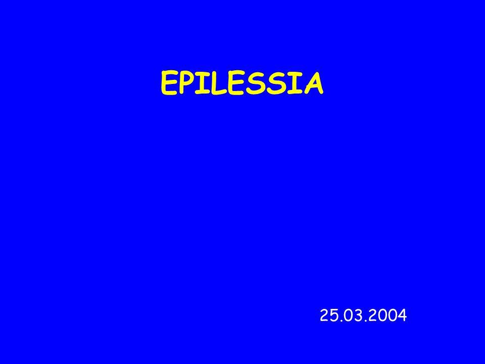 EPILESSIA con GRANDE MALE al RISVEGLIO Esordio: 18-20 anni Crisi tonico-cloniche demblée al risveglio oppure in ore serali EEG: normale attività di fondo, complessi punta e polipunta-onda irregolari a 3,5-4 Hz.