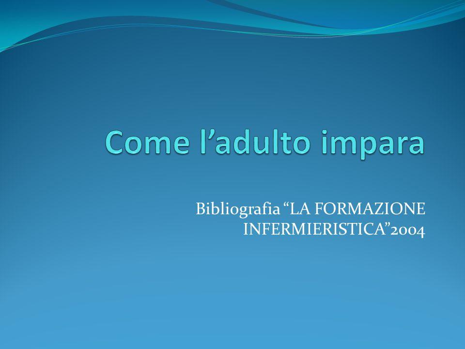 Bibliografia LA FORMAZIONE INFERMIERISTICA2004
