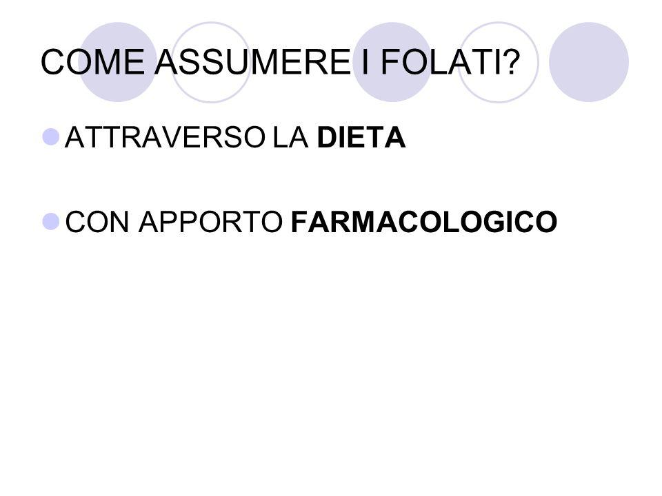 COME ASSUMERE I FOLATI? ATTRAVERSO LA DIETA CON APPORTO FARMACOLOGICO