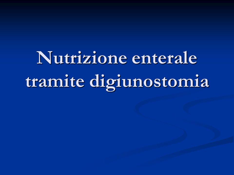 Nutrizione enterale tramite digiunostomia