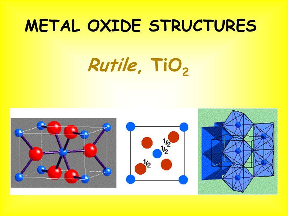 Rutile, TiO 2 METAL OXIDE STRUCTURES