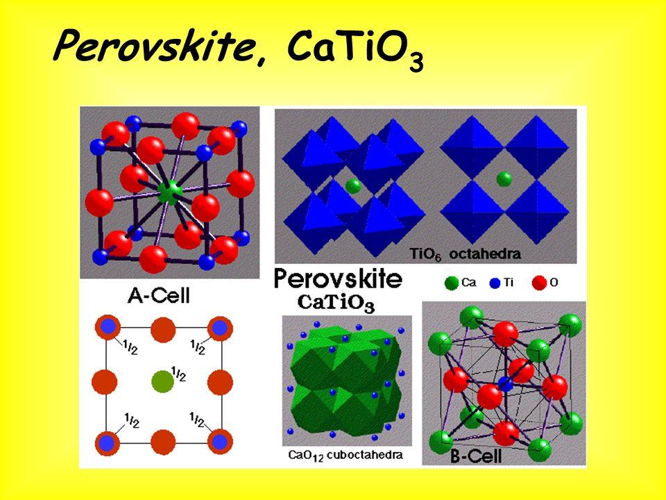 Perovskite, CaTiO 3