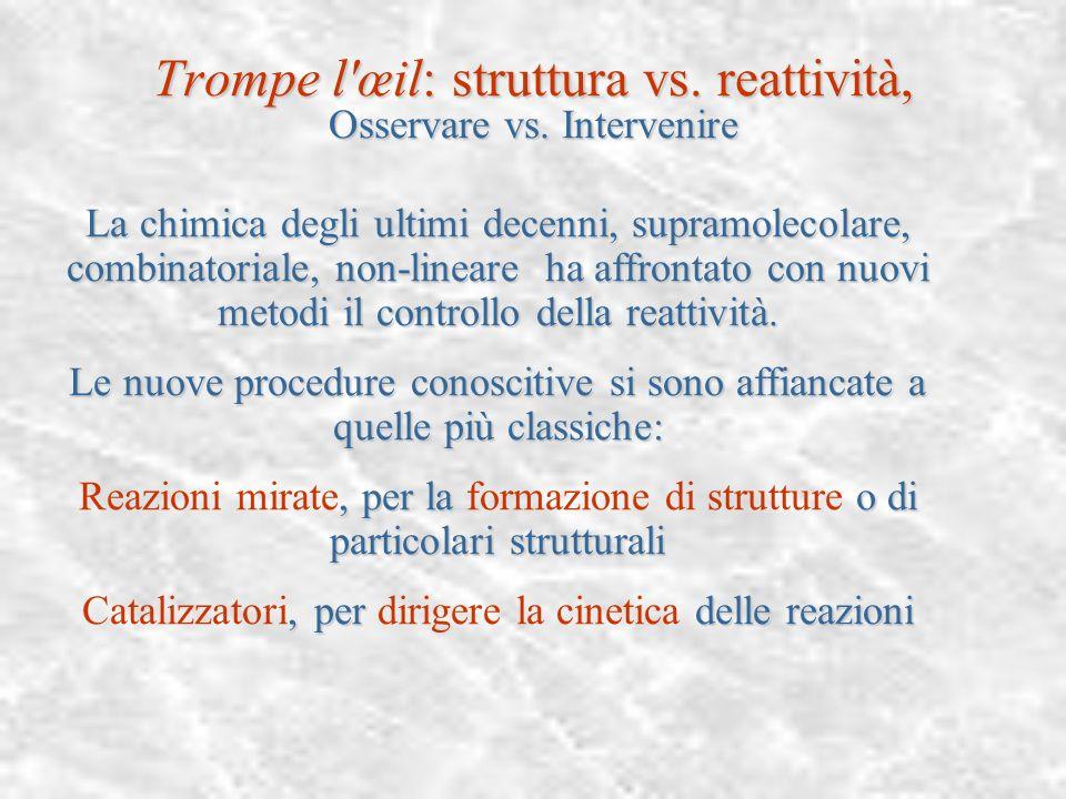 Trompe l'œil: struttura vs. reattività, ovvero O/I Sia nella didattica, sia nella divulgazione si privilegia l'aspetto osservativo della conoscenza de