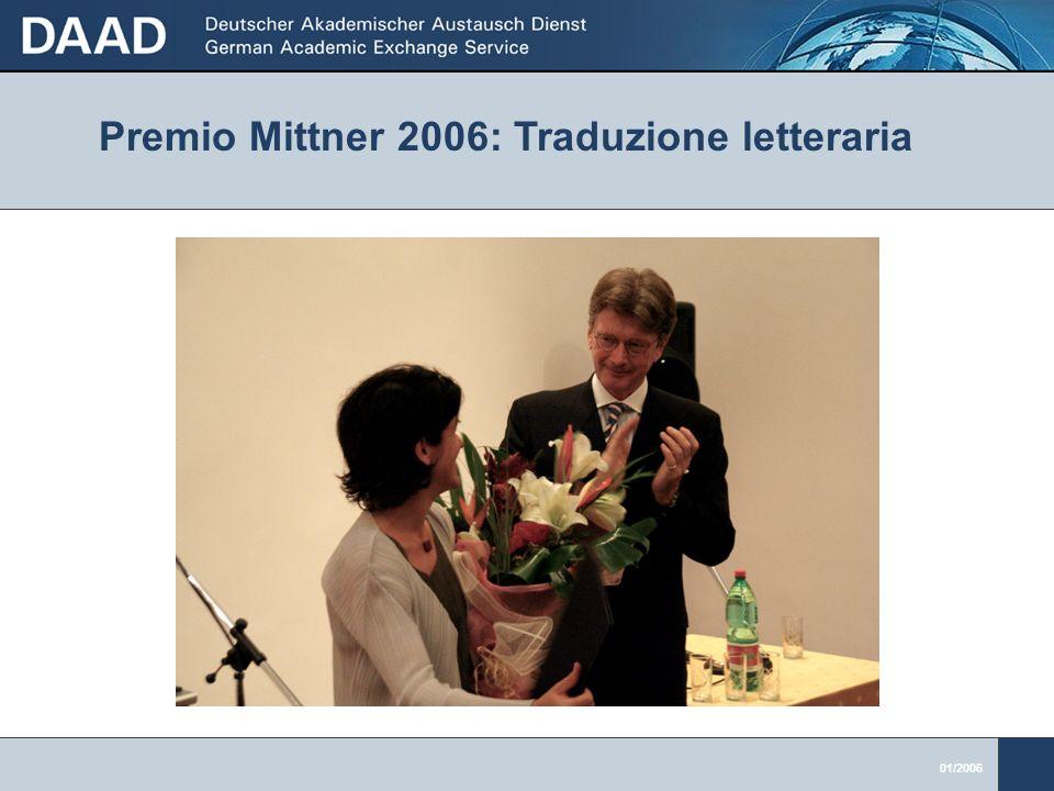 01/2006 Premio Mittner 2006: Traduzione letteraria