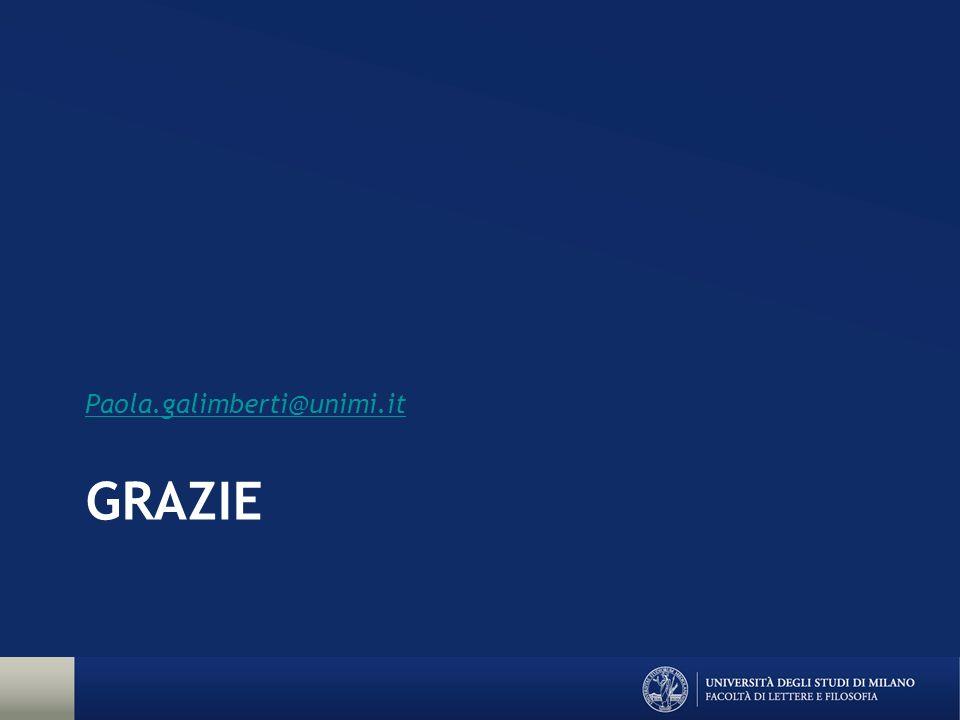 GRAZIE Paola.galimberti@unimi.it