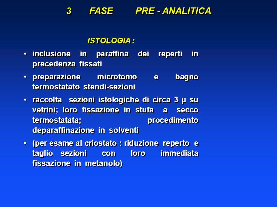ARTEFATTI ISTOLOGICI 2) Artefatti causati nellintervallo tra il prelievo ed il trattamento istologico 2.1.