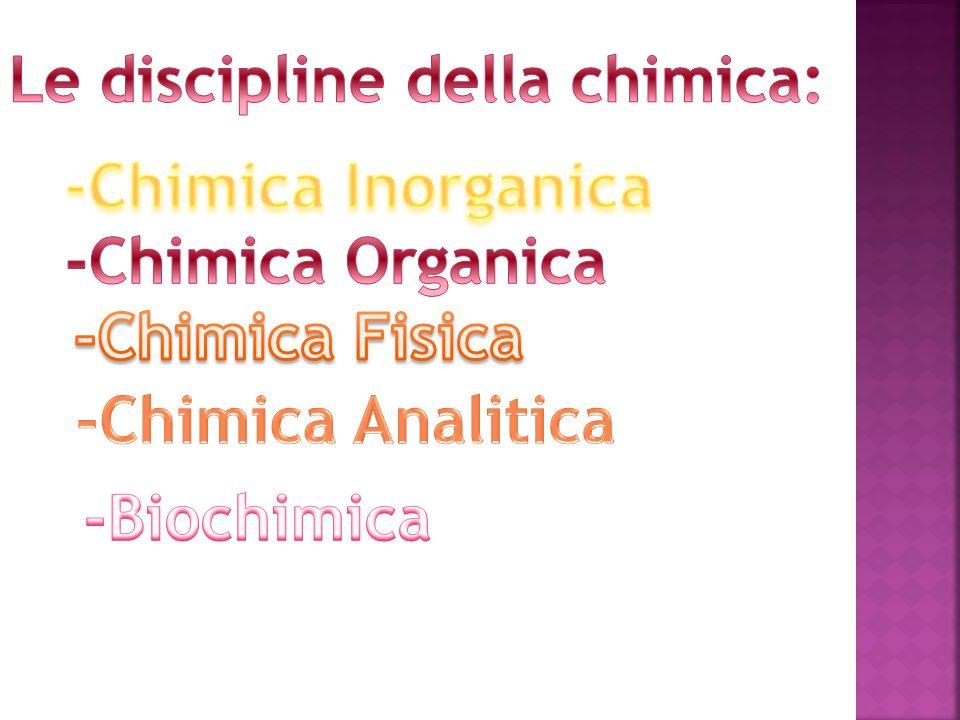 La chimica inorganica si occupa dello studio dei composti inorganici, ovvero dei composti non formati da atomi di carbonio (anche se in realtà una ristretta classe di composti del carbonio sono considerati inorganici).