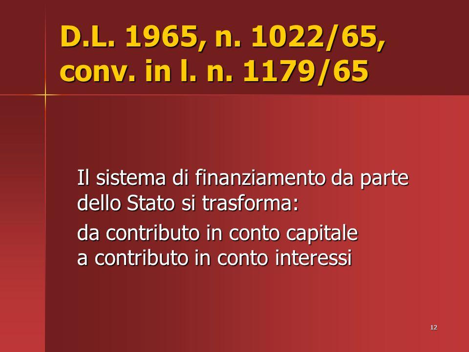 12 D.L. 1965, n. 1022/65, conv. in l. n.
