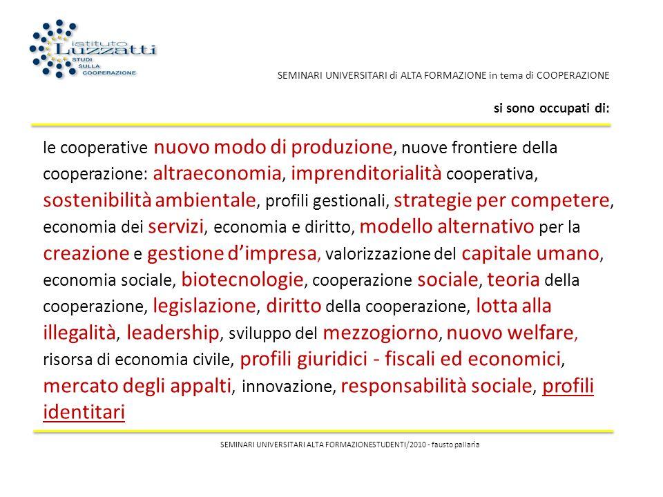 le cooperative nuovo modo di produzione, nuove frontiere della cooperazione: altraeconomia, imprenditorialità cooperativa, sostenibilità ambientale, p